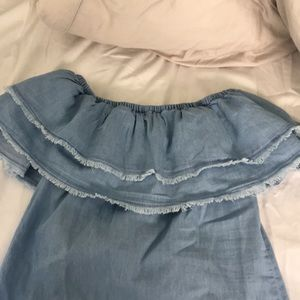 NWT Denim Ruffle Dress Size Medium (juniors)